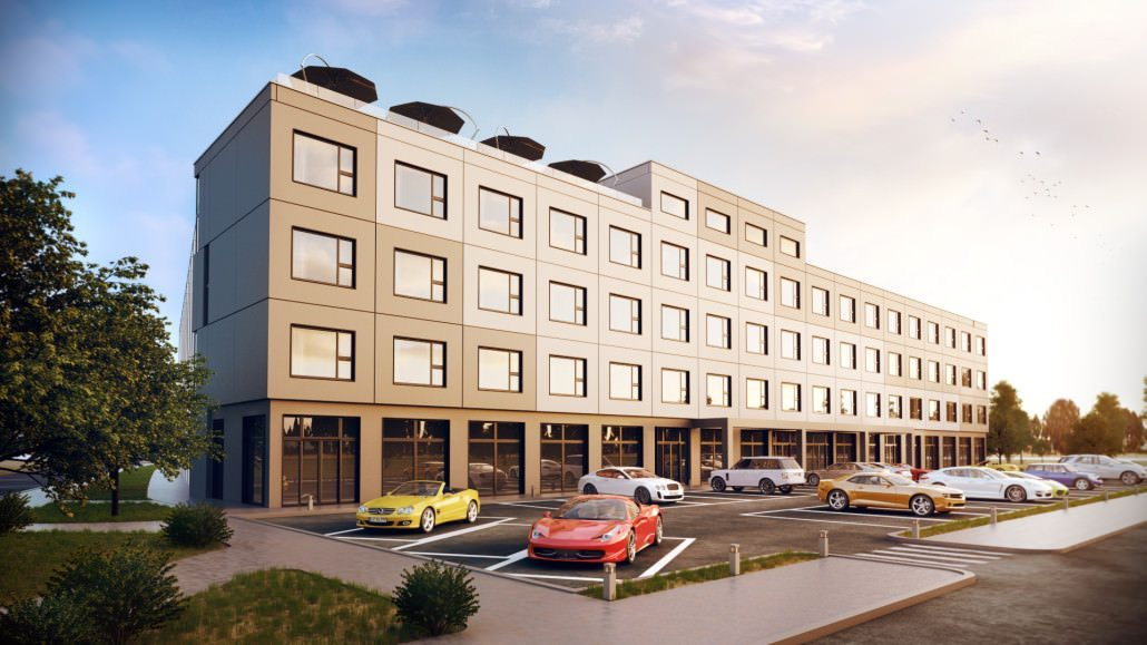 CG Visualization for a Hotel Exterior Design