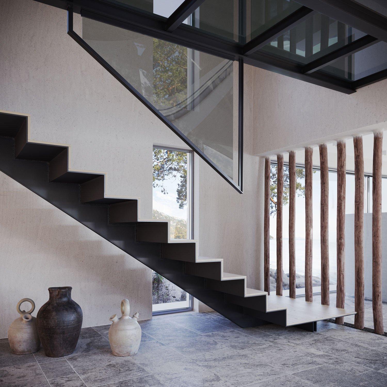 Villa Staircase Interior Design Rendering