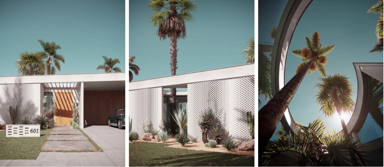Architectural Renders for a Villa in California