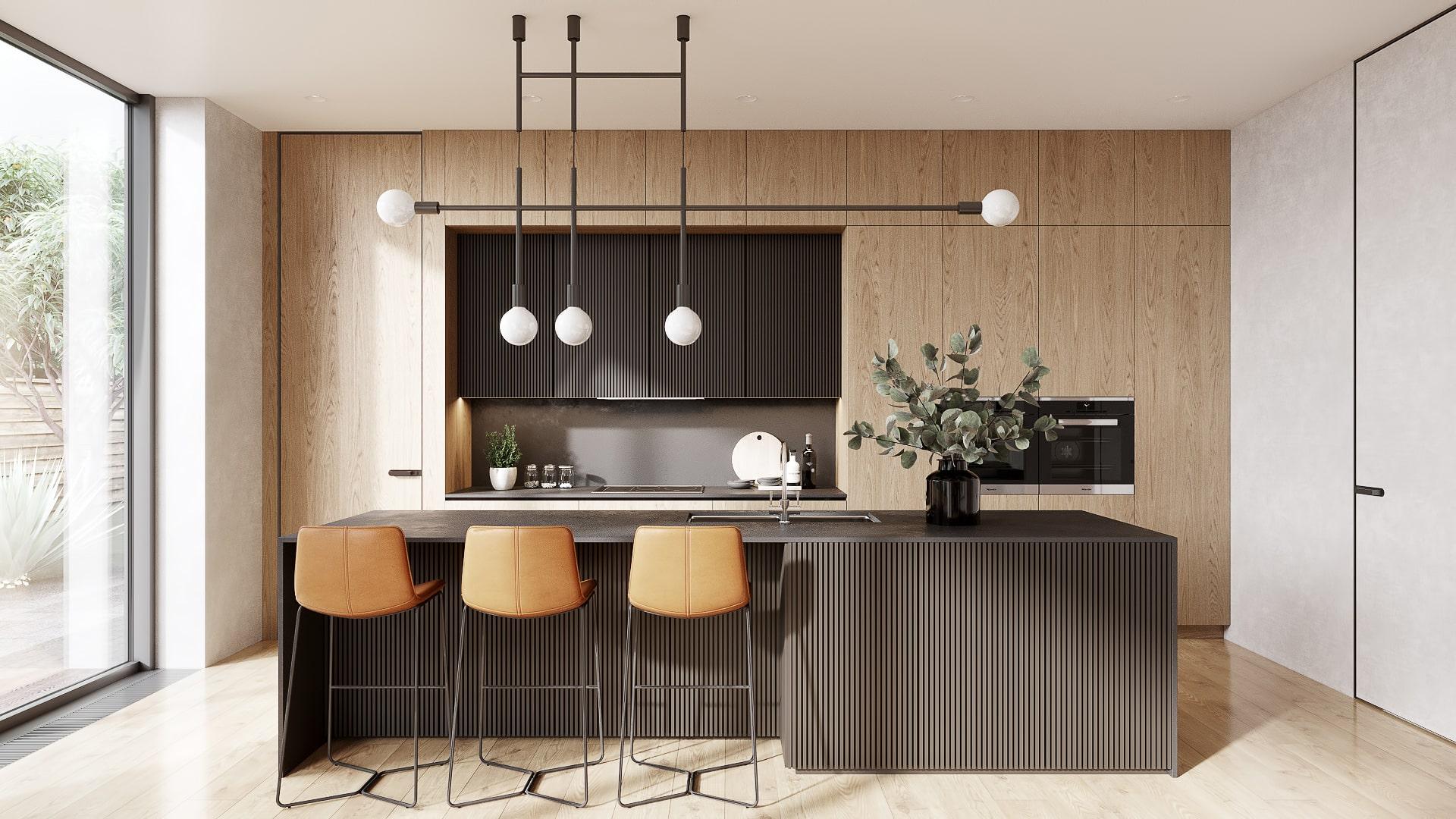 Kitchen Design Rendering for a Portfolio on a Designer's Site