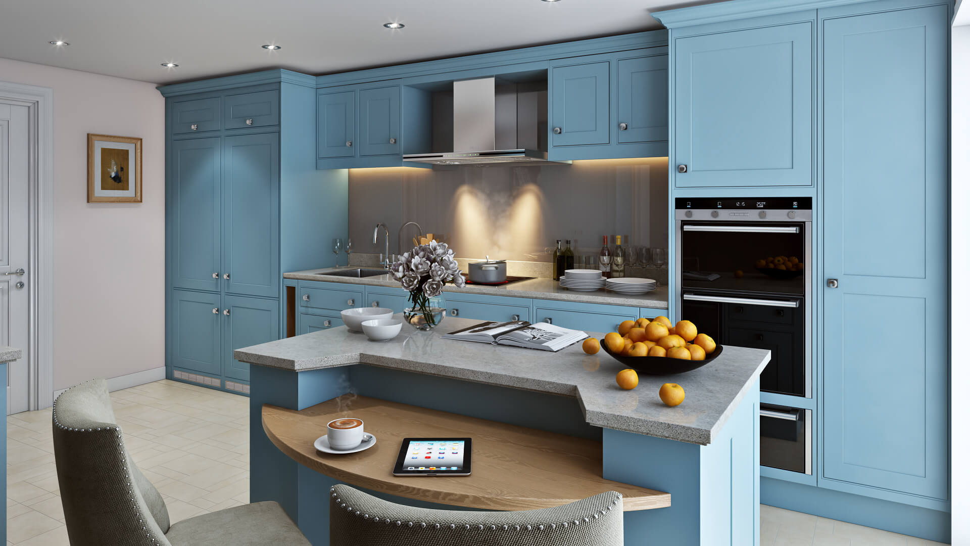 3D Rendering Services Kitchen Project: Simple, Practical and Utterly Elegant: view01