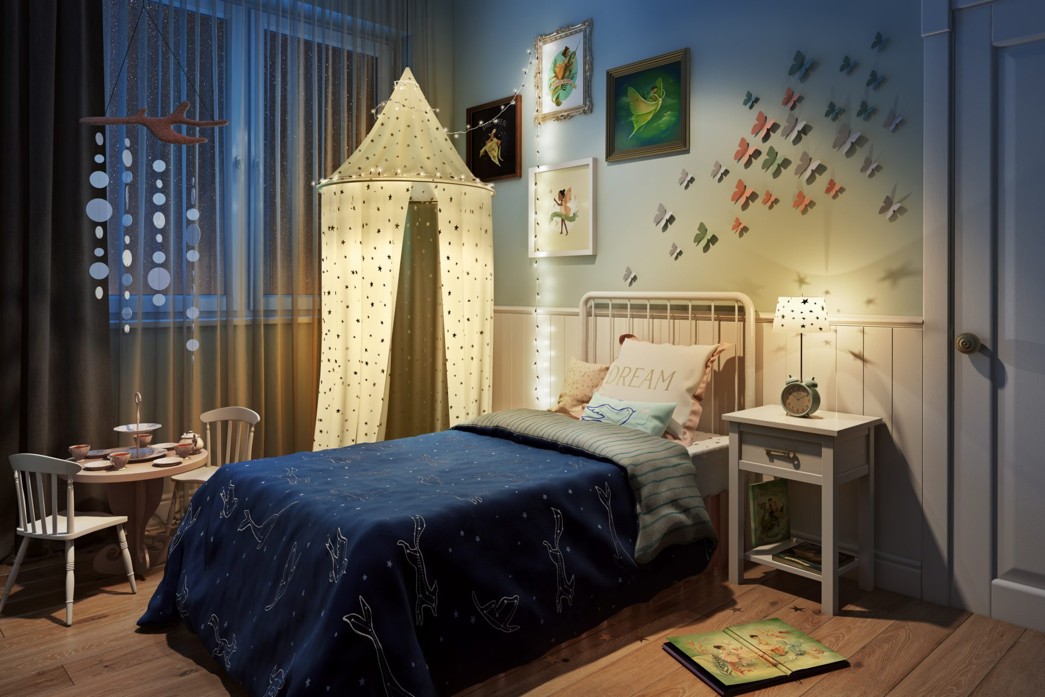 Artistic Three-Dimensional Rendering For A Creative Childroom Design: Preview