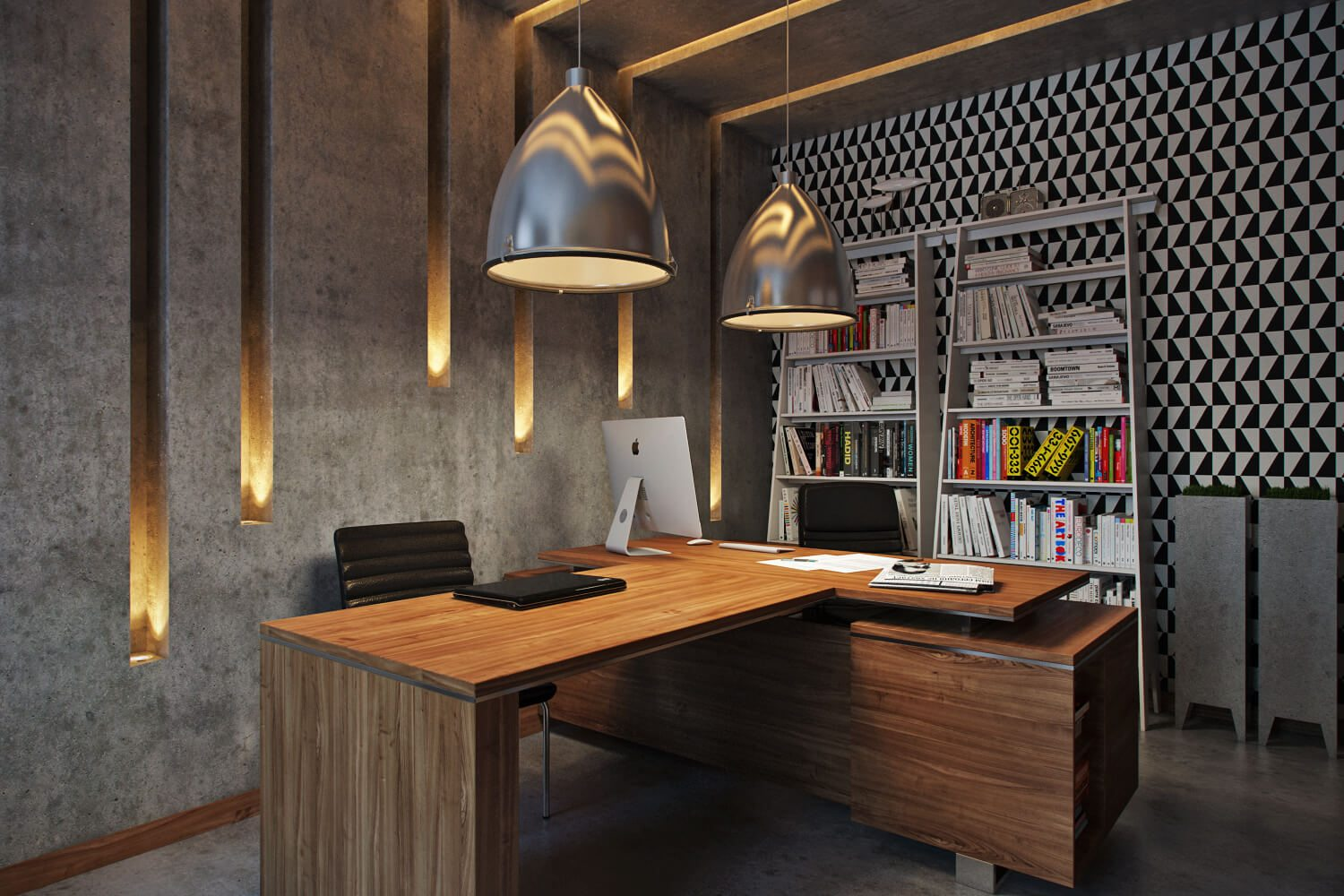 Professional Photoreal Rendering: CEO Office Modern Design View04