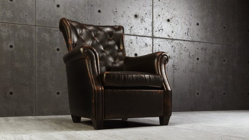 CGI Or Product Photography Studio: Leather Armchair Hero Shot View19