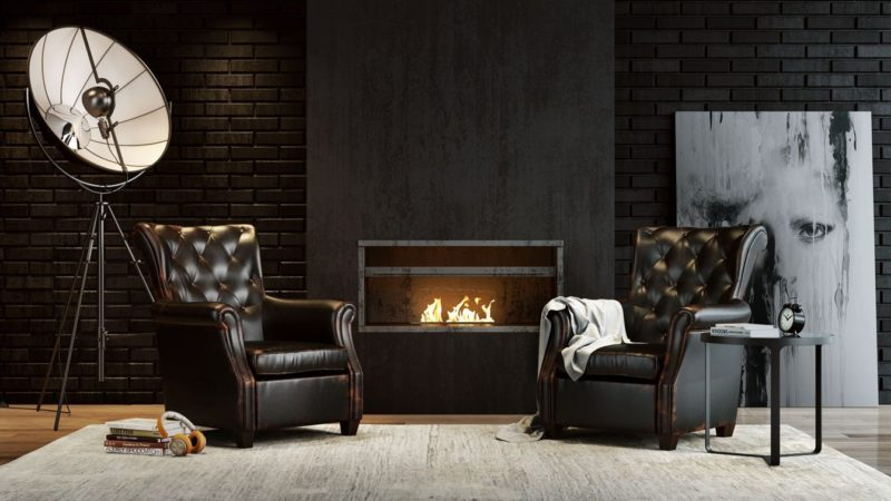 CGI Or Product Photography Studio: Armchairs By The Fireplace View20