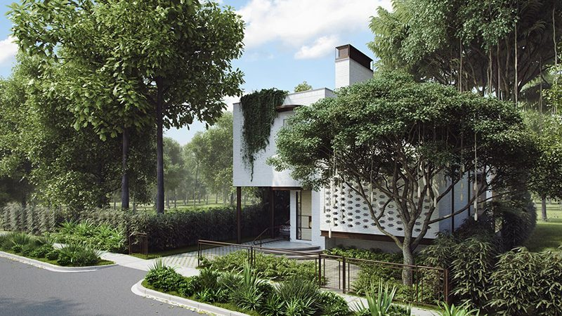 Professional Architectural 3D Animation House With A Garden