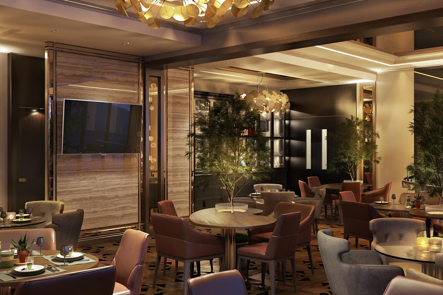An Impactful Hotel Rendering: Restaurant For Guests' Comfort View01