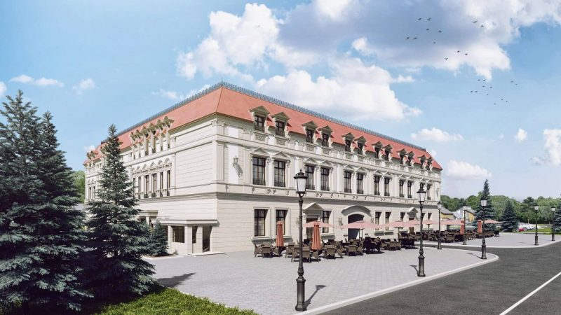 A classical building with lots of details in an exterior rendering View03