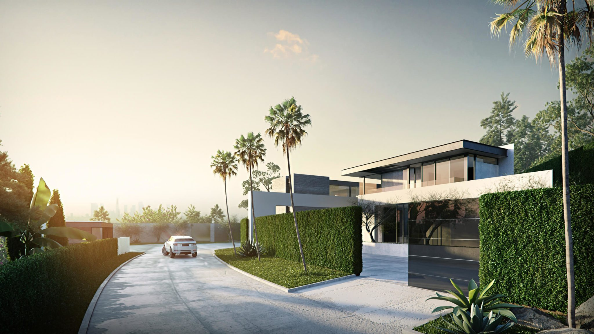 Chic House Exterior 3D Rendering