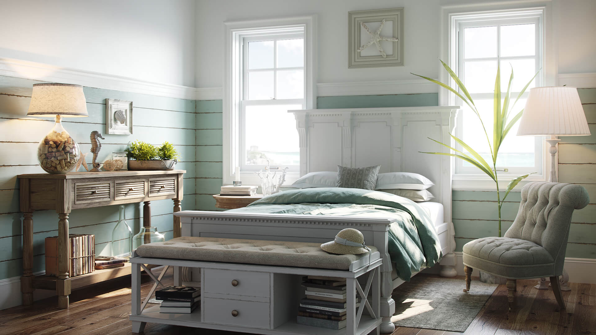 Corona Interior Render for a King Size Bed