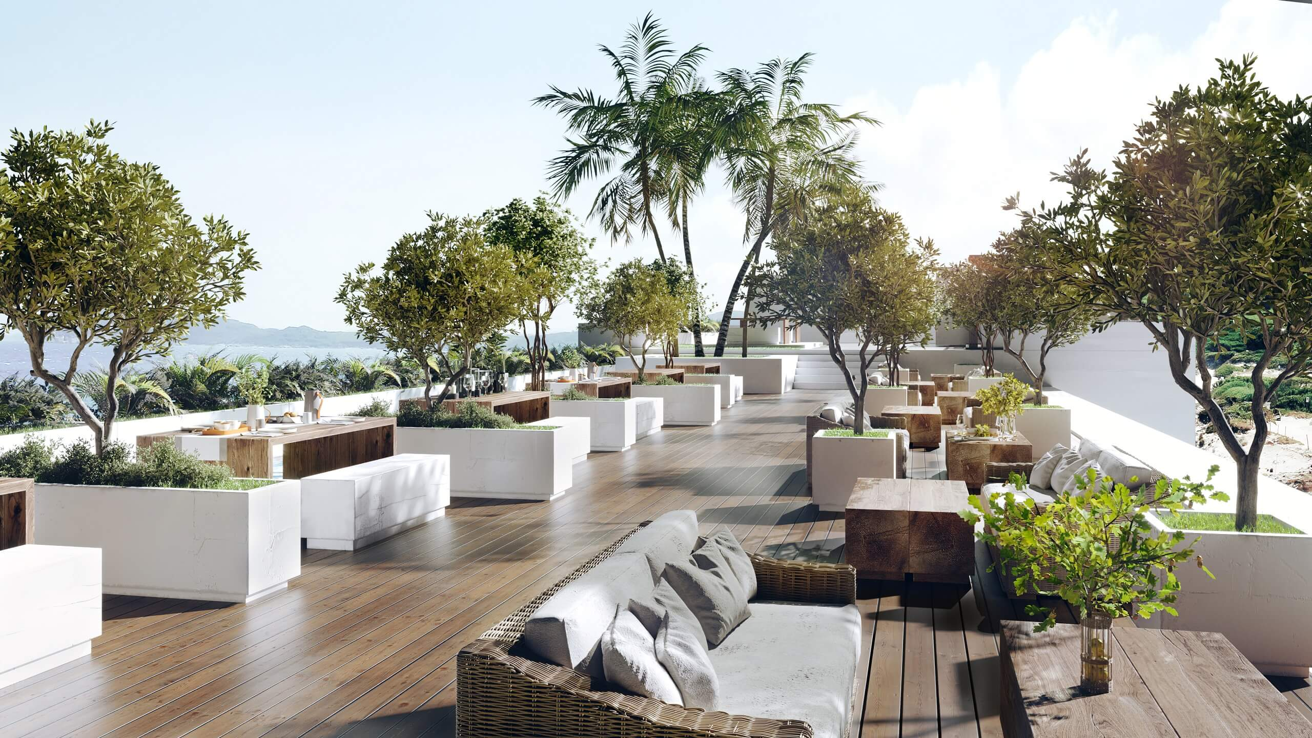 Architectural Rendering for a Terrace Project