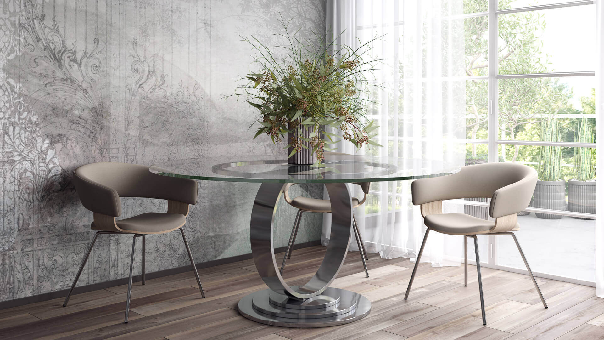 3ds Max Visualization for Dining Room Furniture