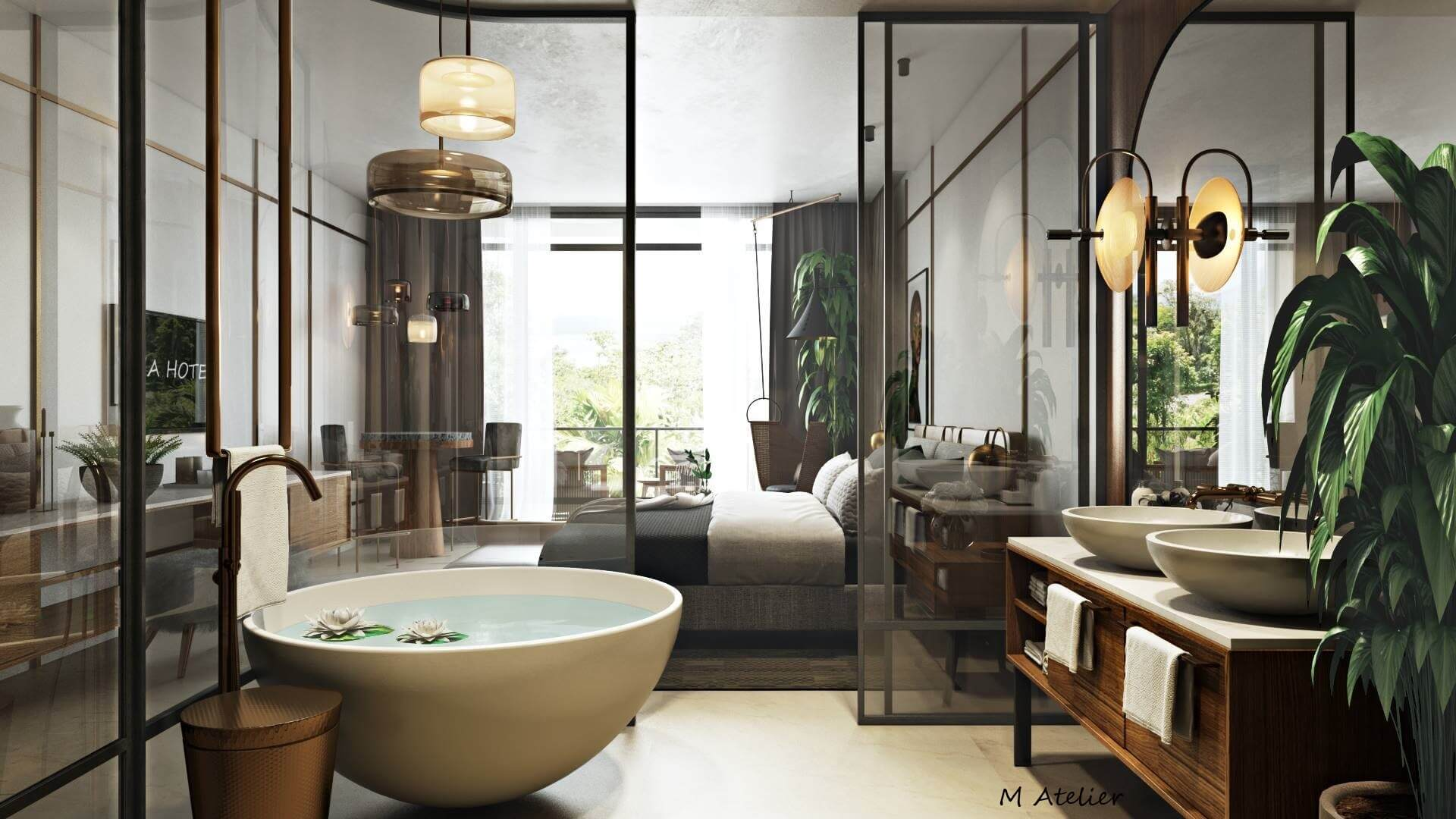 3D Bathroom Visuals for Email Marketing Campaign