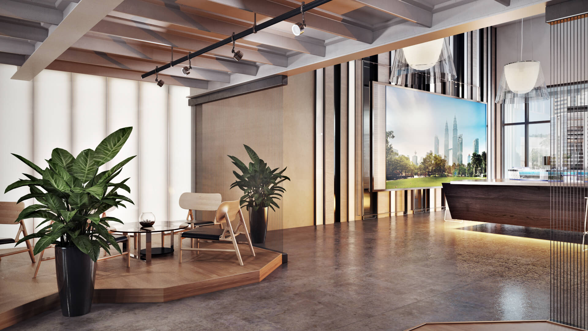 Office Interior CG Render for Commercial Design Project View05