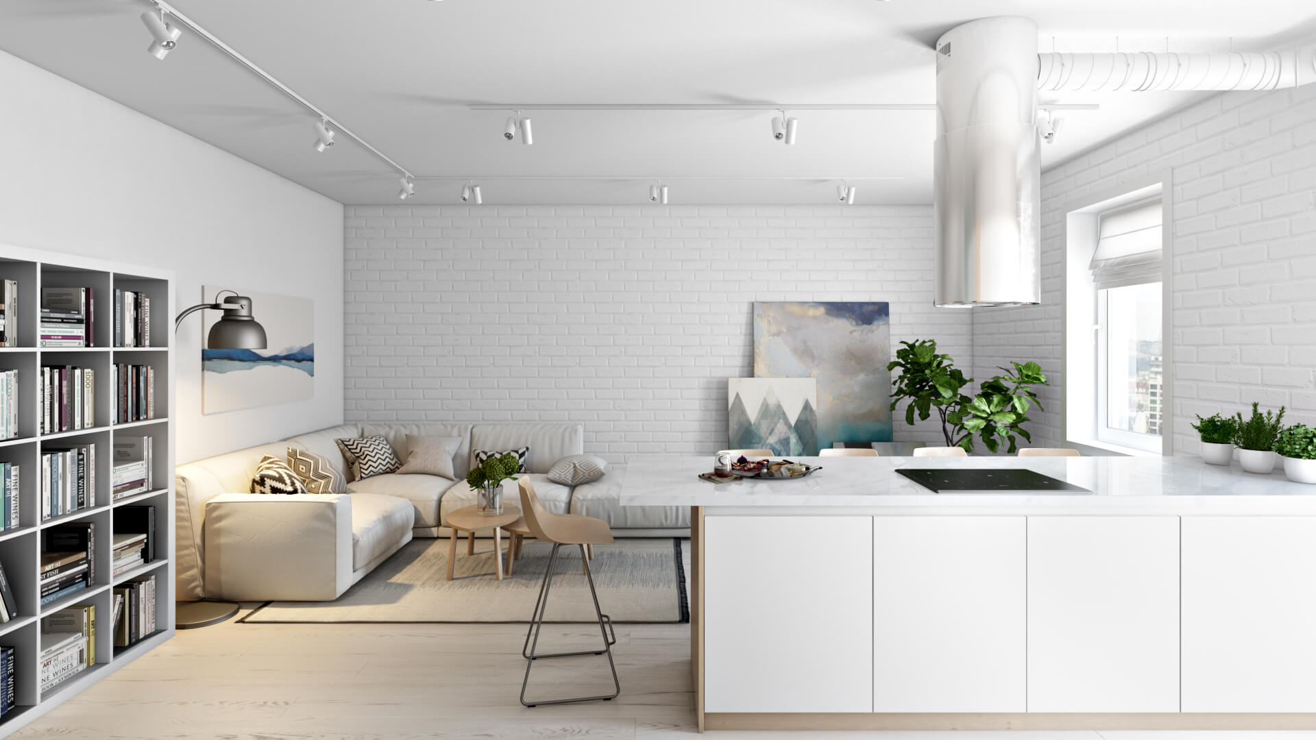 3D Kitchen Interior Rendering for Email Marketing Campaign