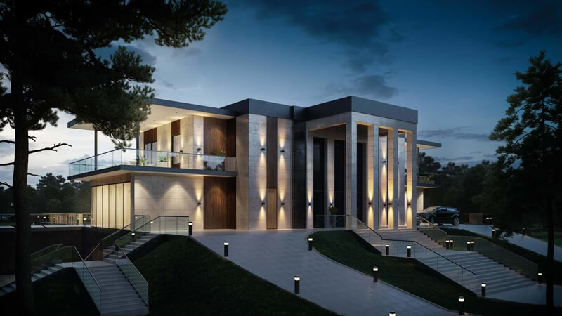 After-Ligthing For Exterior Rendering
