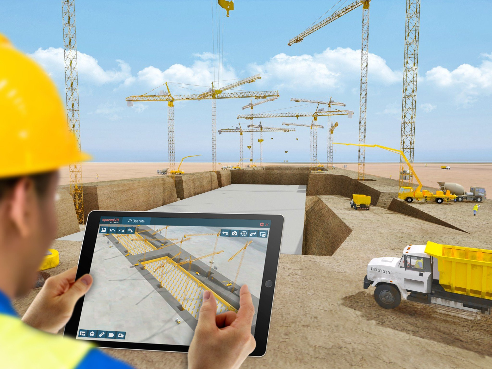 High-End Mixed Reality for a Construction Guide