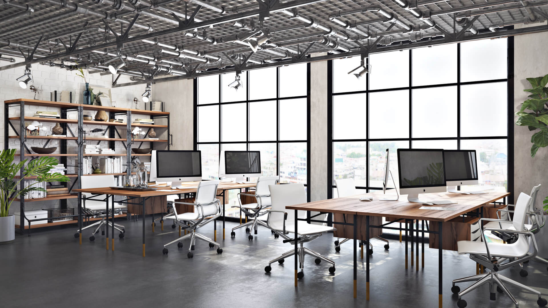 High-Quality Office Design 3D Rendering for a CGI Studio