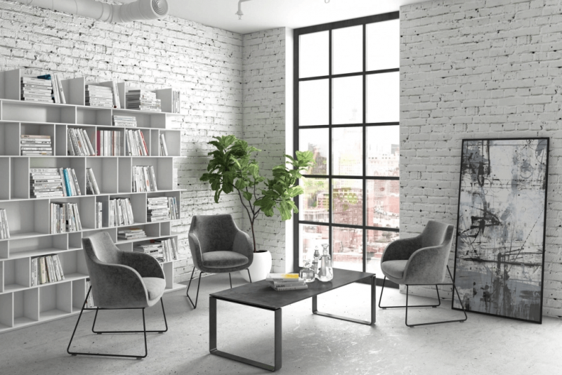 Lifestyle 3D Modeling for Gray Chair Design