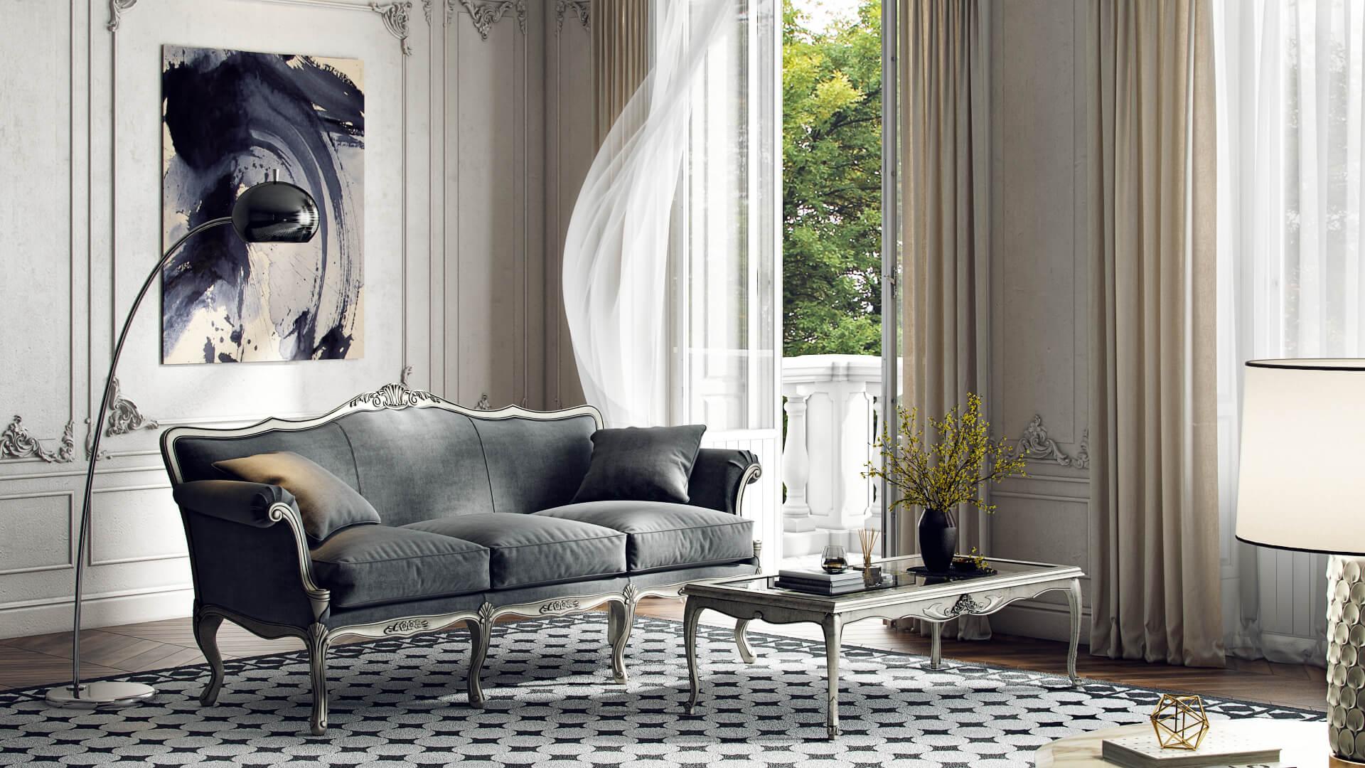 3D Custom Modeling Of Elegant Sofa