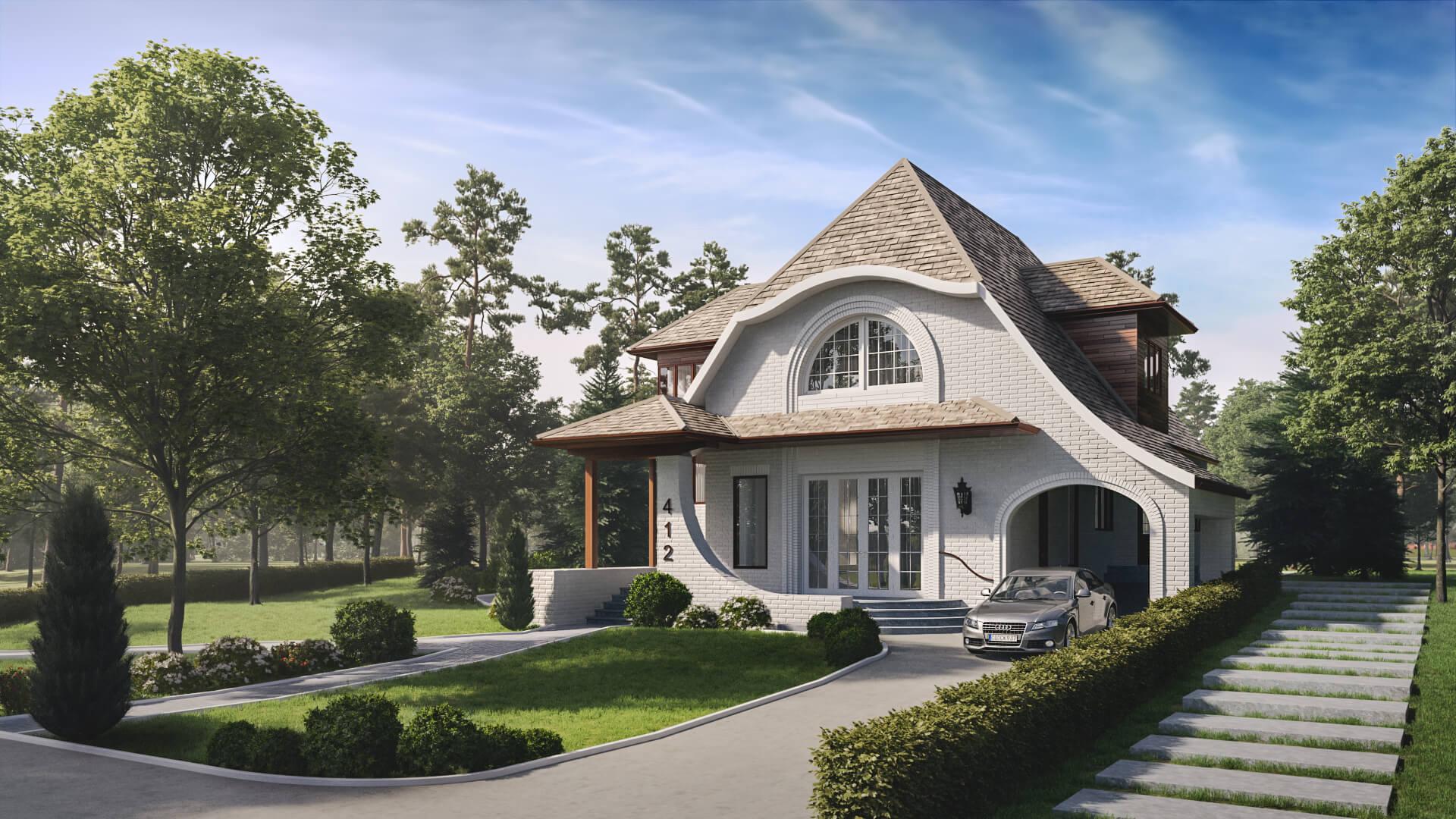 Stylish House Residential Visualization