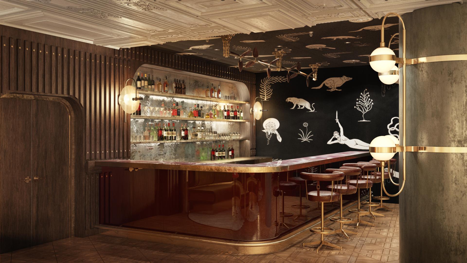 3D Visualization for a Restaurant Interior Design View
