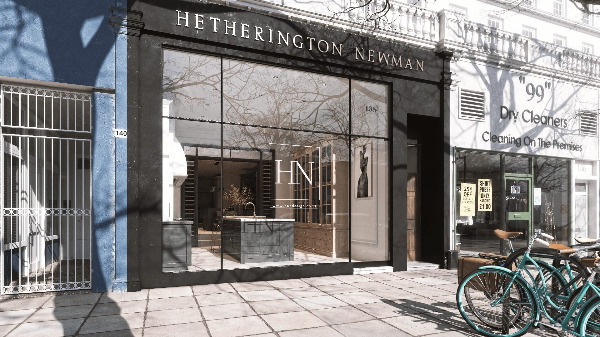3D Visualization of a Stylish Boutique