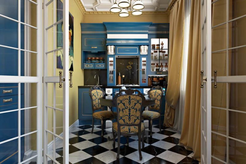A Vibrant Dining room design project: using 3D design tools to convince a client