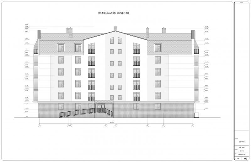 Drawing for a Country Residential Complex