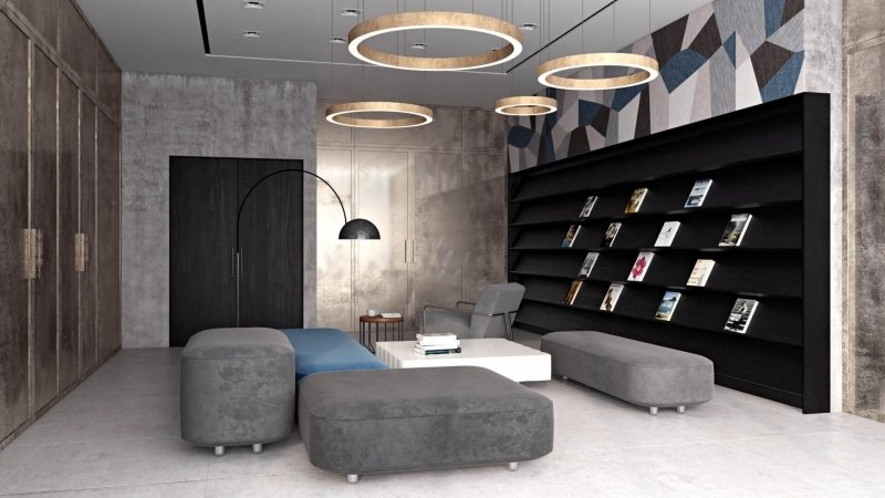 3D Rendering Of a Contemporary Room Design