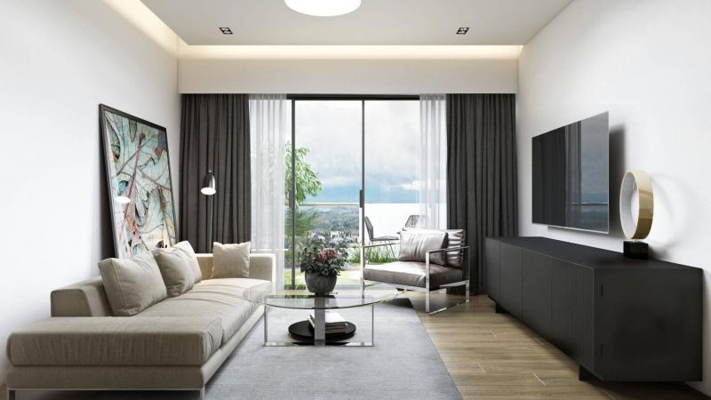 3D Rendering Of a Spacious Modern Living Room