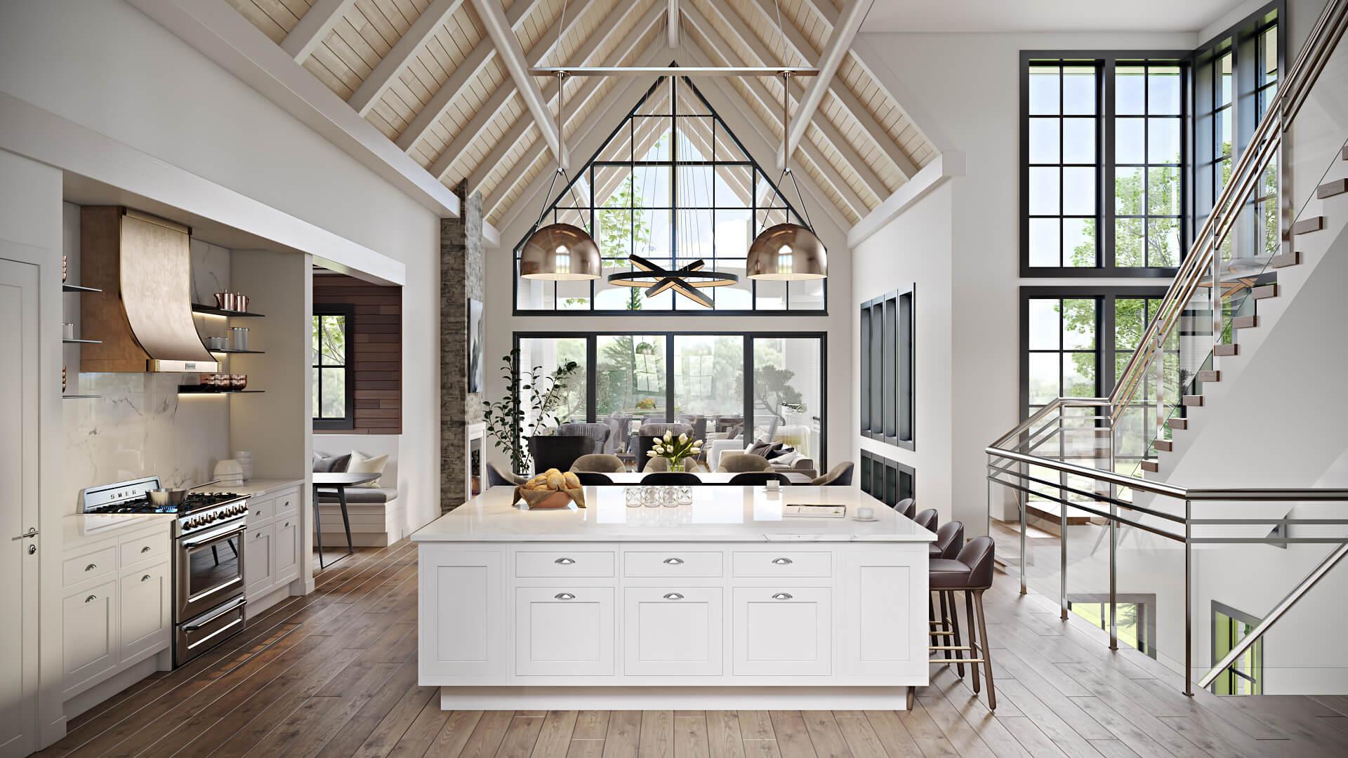 CGI for an Elegant Kitchen