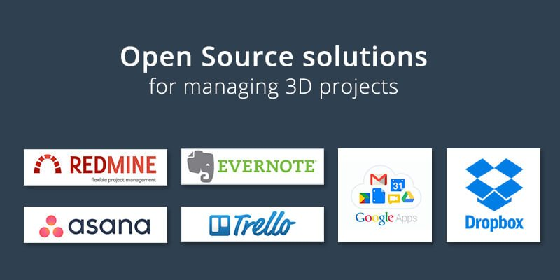 Open Source Software for Managing 3D Projects in Rendering Companies