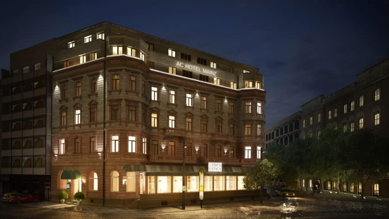 Photoreal Architectural Exterior Rendering: An Elegant Hotel At Night