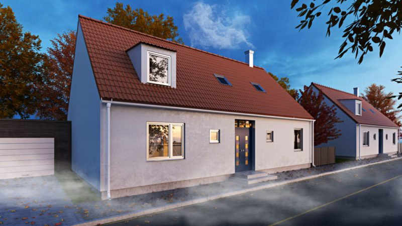 Photoreal Architectural Exterior Rendering: A Single Family House