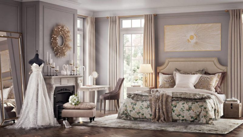 A Gorgeous Bedroom Render for Architectural Email Marketing