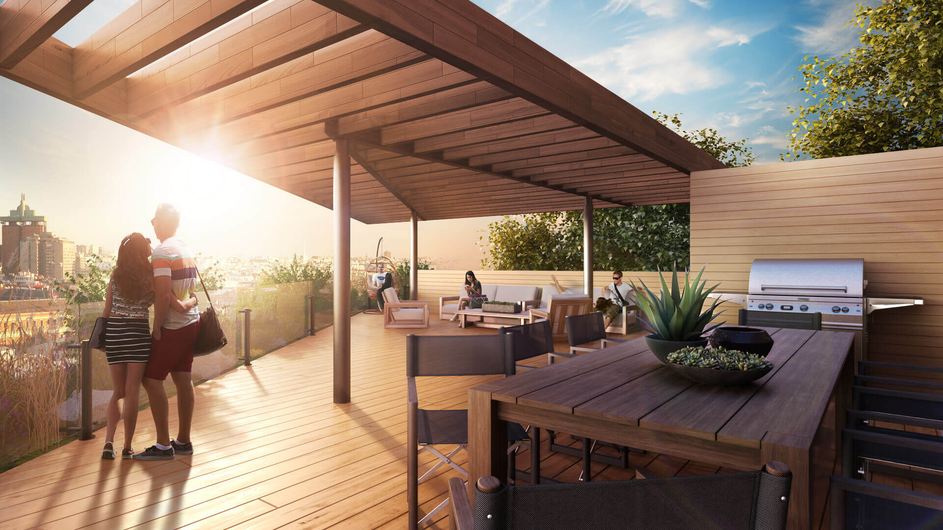 3D Visualization of a Spacious Summer Terrace