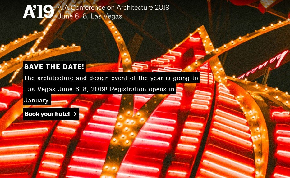 AIA Conference on Architecture 2019 in Las-Vegas