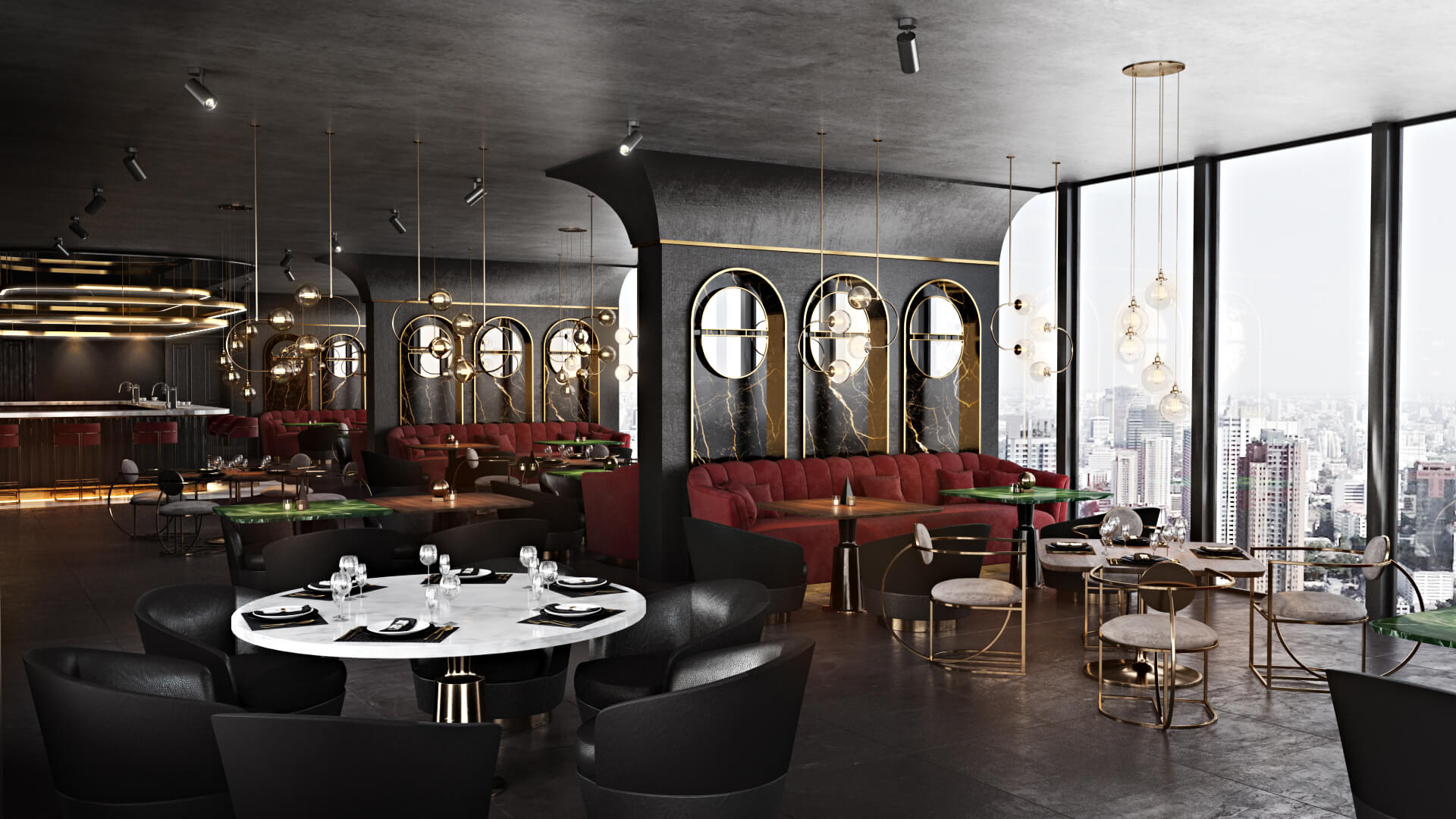 Creative 3D Visualization Services For Restaurant Virtual Tour