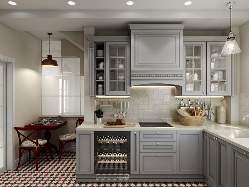 Impactful Design 3D Rendering Showcasing A Kitchen Corner