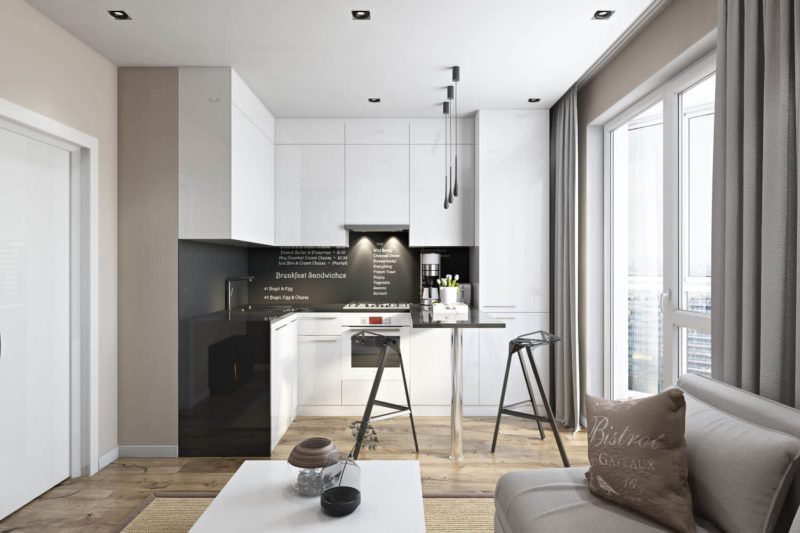 Quality Digital Rendering For A Kitchen Studio Filled With Daylight