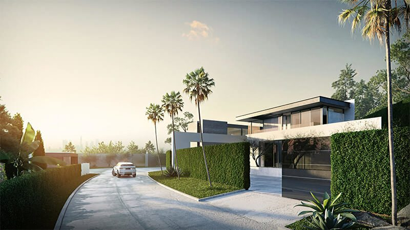 Unbelievably Realistic Digital Rendering For A House Exterior Project