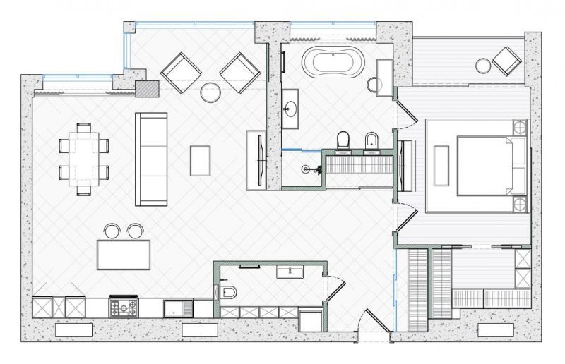 2D Floor Plan for a Property