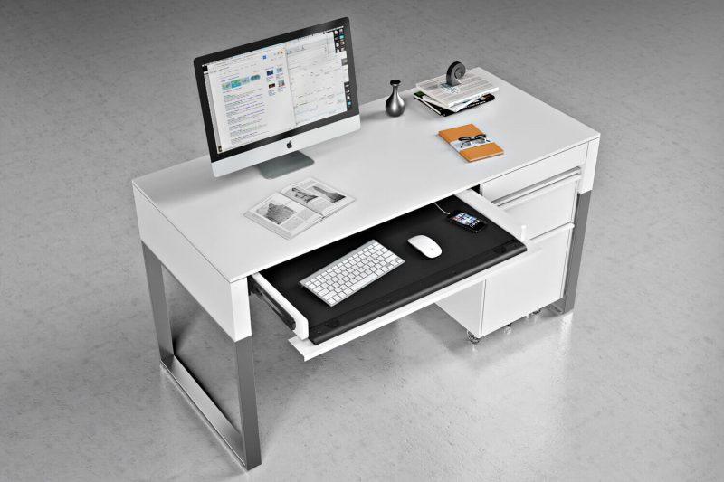 White Desk Hero Shot for a Furniture Promo