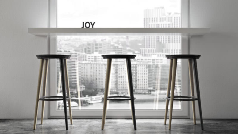 Three Stools By The Window: Inspiring Competition Between Furniture Photography And Visualization