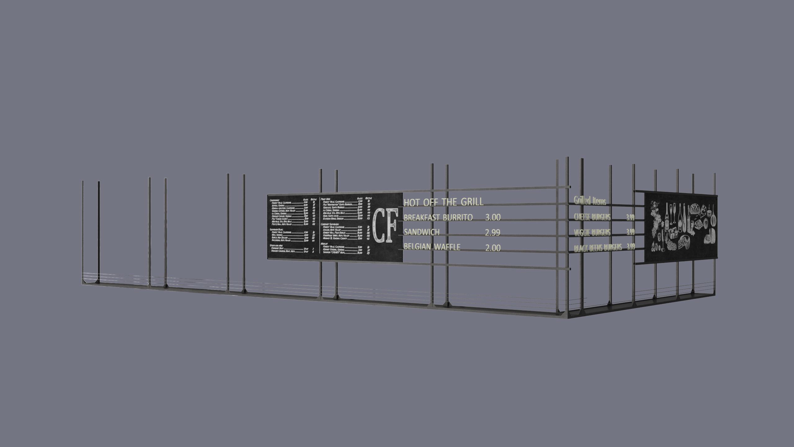 3D Modeling for a Menu Board Design