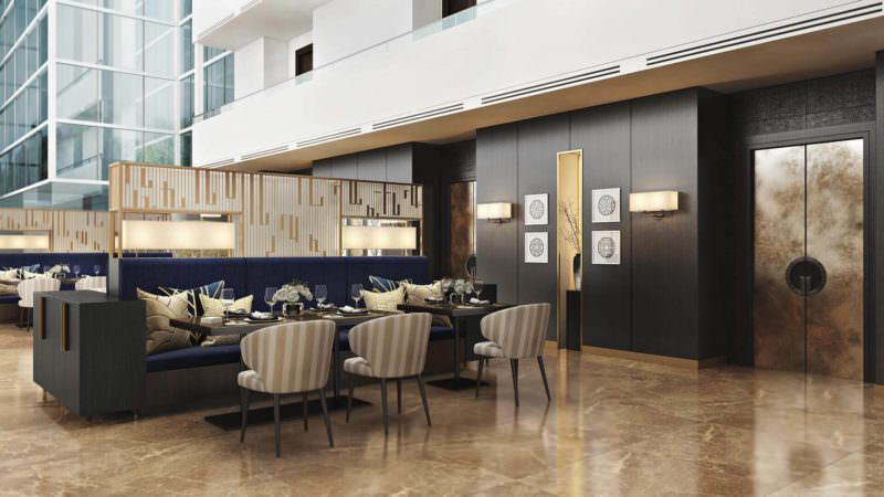 Spectacular Interior Design Renderings For Hotel Restaurant Presentation