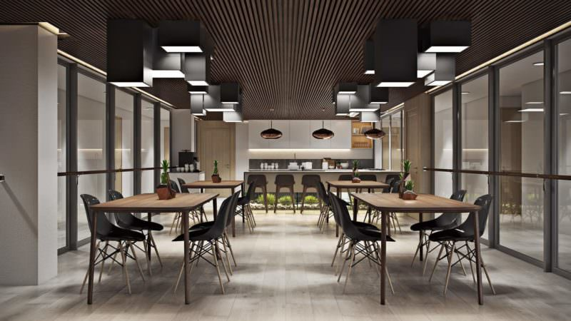 Quality Interior Design Renderings For An Office Dining Room