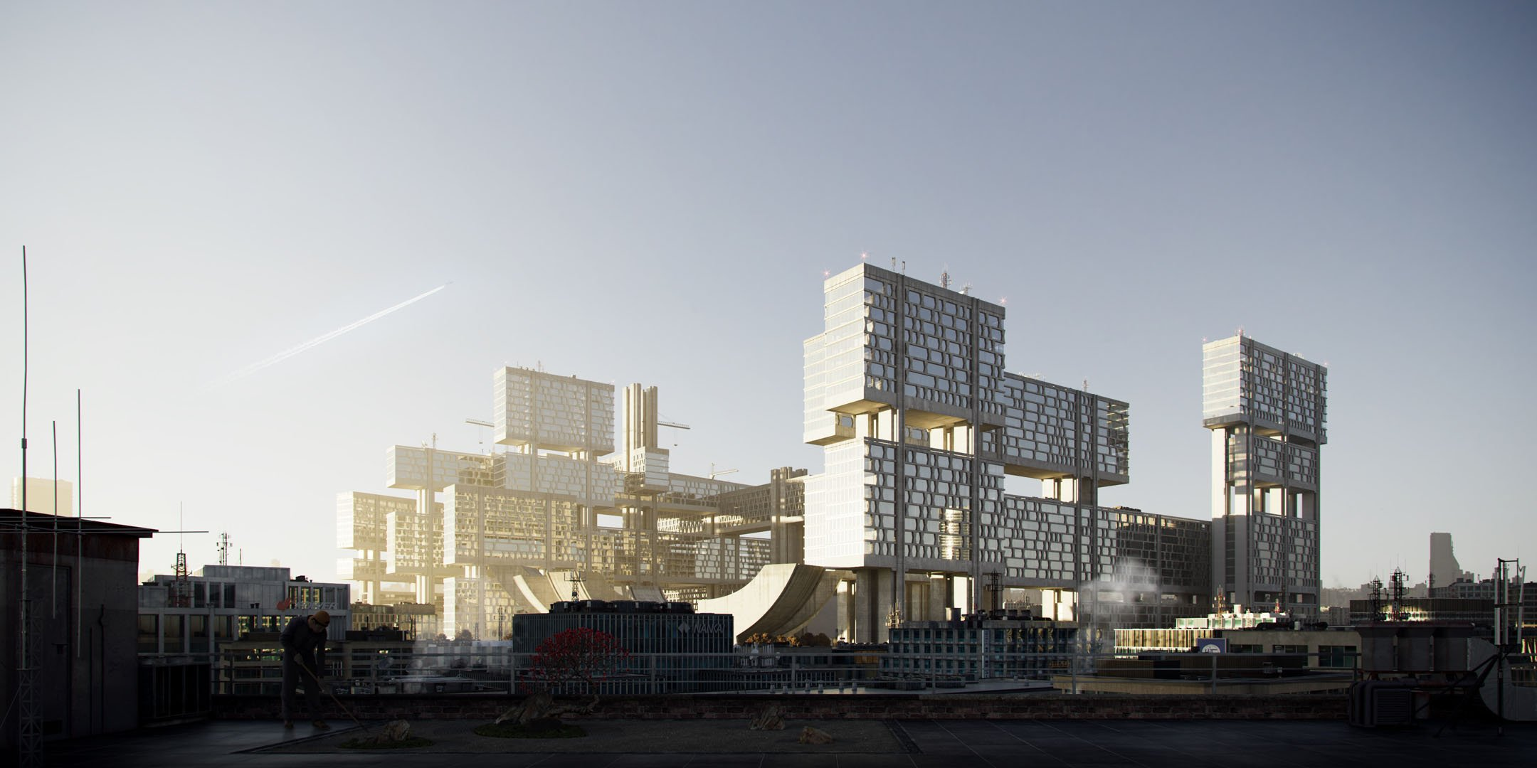 CG Design Visualization for an Architectural Complex