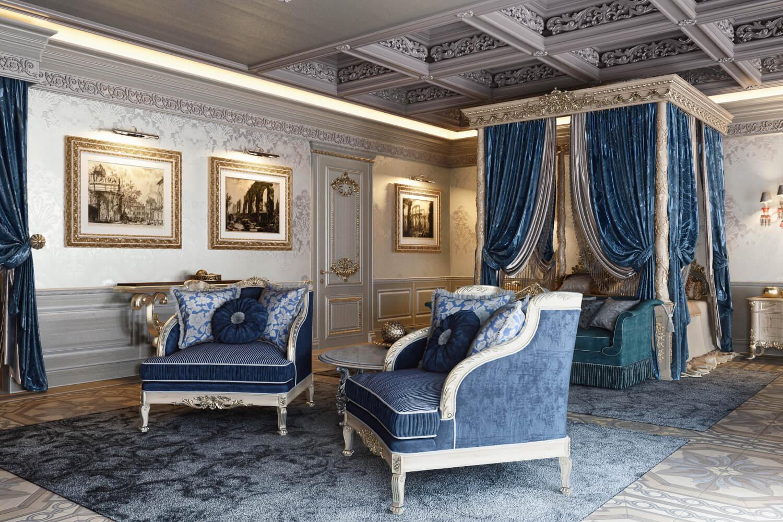 Master Bedroom 3D Rendering for Interior Design Presentation View02